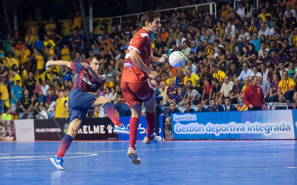 El balanç de victòries-derrotes dels últims enfrontaments contra ElPozo Múrcia són favorables al Barça Alusport