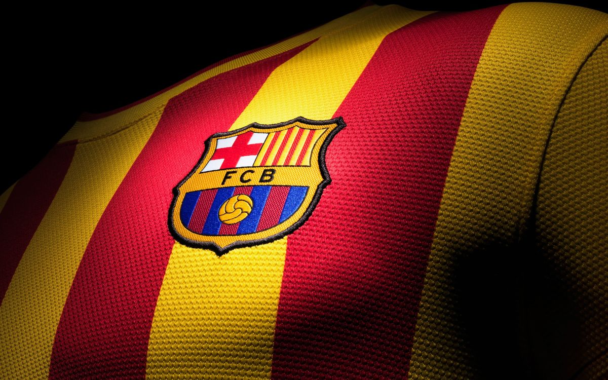 The 'senyera', the catalan flag, dominates away kit for 2013/14
