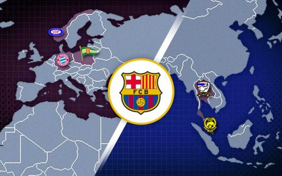 Five Barça 2013/14 preseason matches confirmed