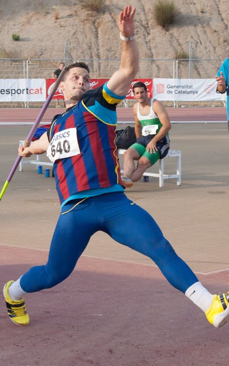 Jordi Sánchez, rècord de Catalunya absolut en javelina