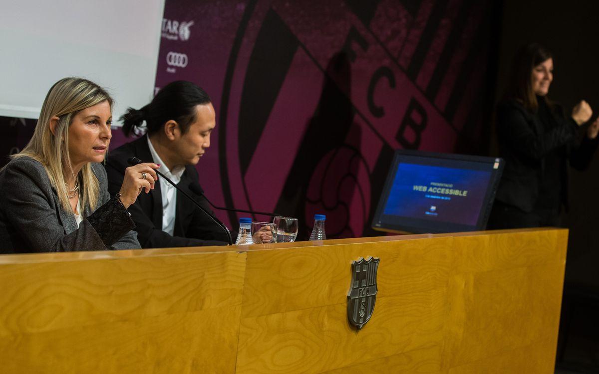 El Barça, el primer Club amb el certificat AA de web accessible