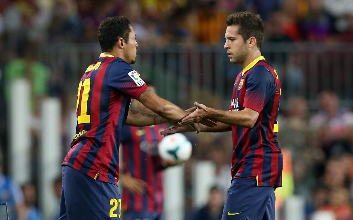 Jordi Alba picks up a thigh injury