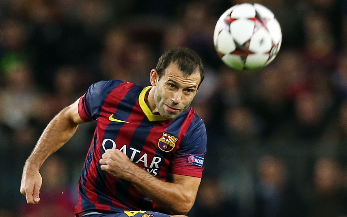 Mascherano notes improvements in defence