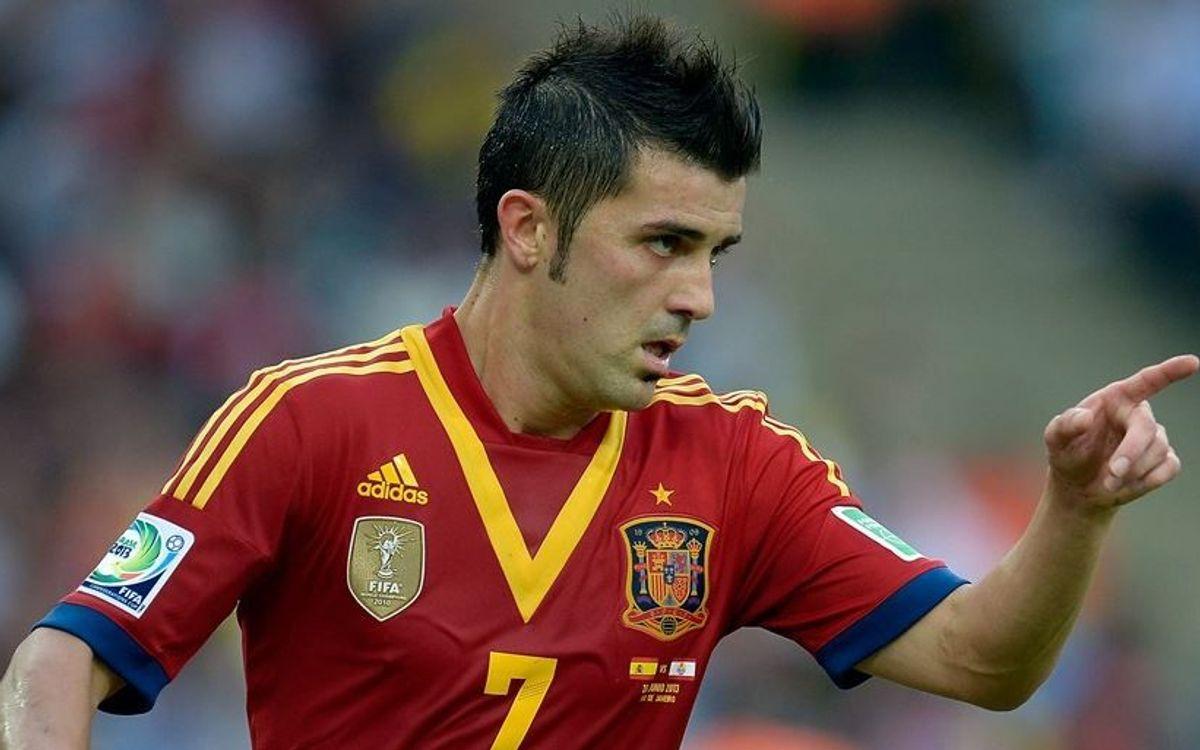 Villa nets hat trick in Spain's dismantling of Tahiti (10-0)