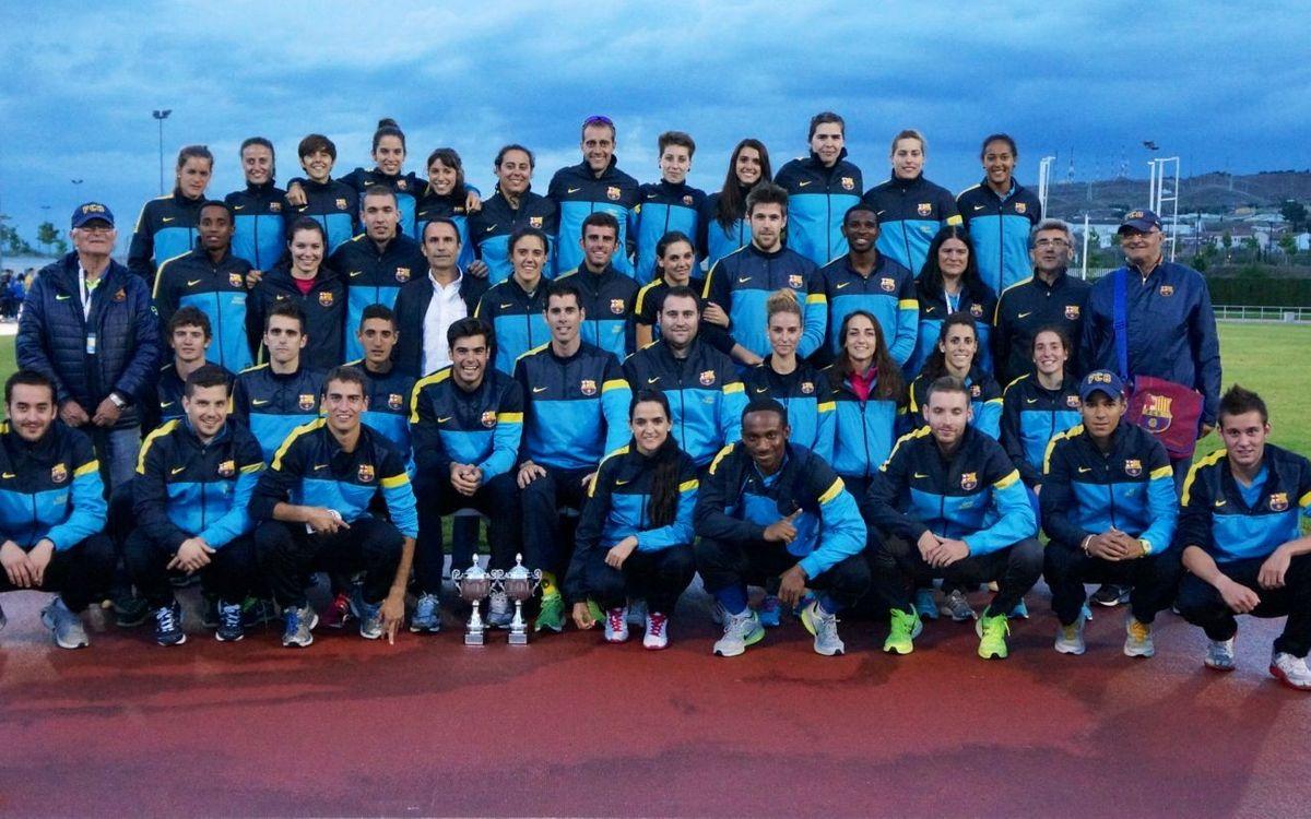 El FC Barcelona, subcampió al Campionat de Clubs d'Atletisme en masculí i femení