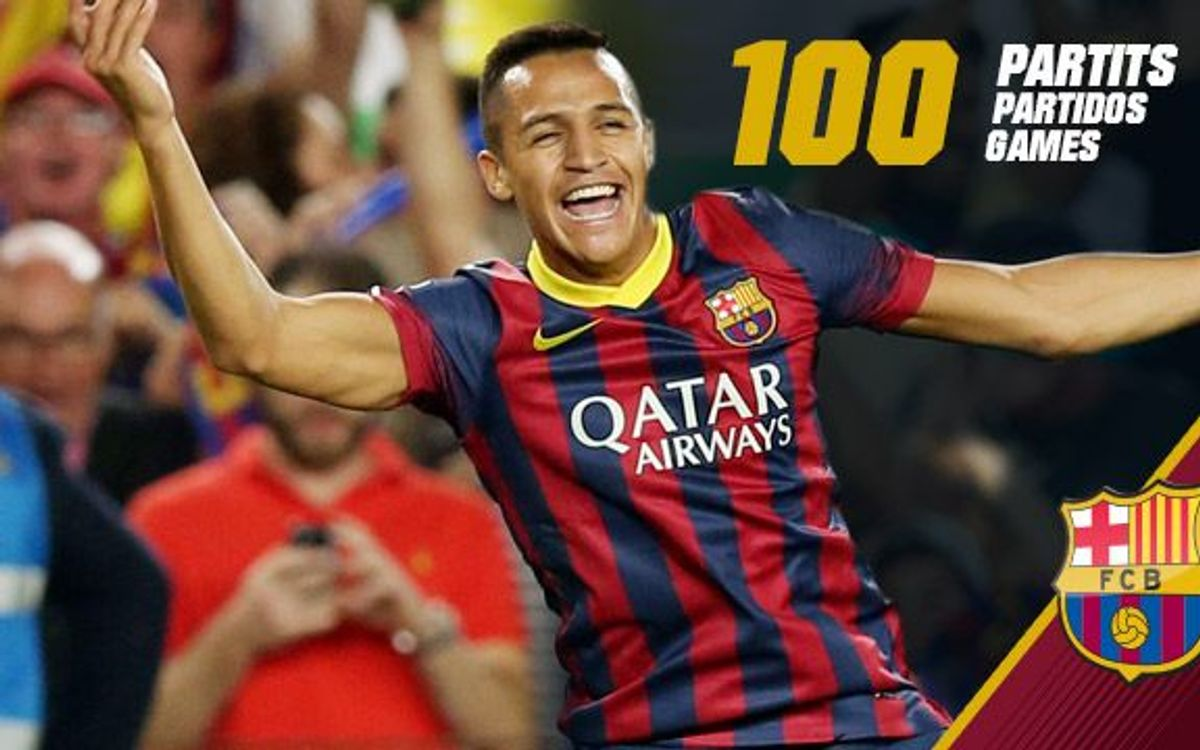 On form Alexis Sánchez makes his 100th appearance for FC Barcelona