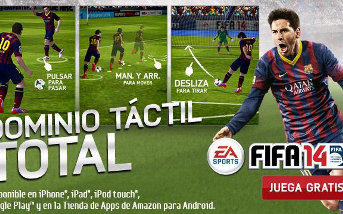 Juga amb el FC Barcelona al FIFA 14 per a telèfons mòbils