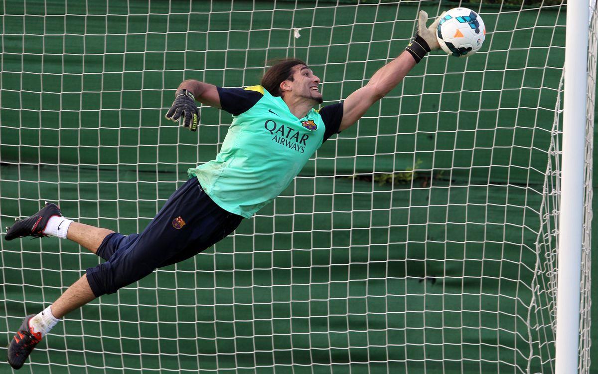 José Manuel Pinto, a guarantee in goal