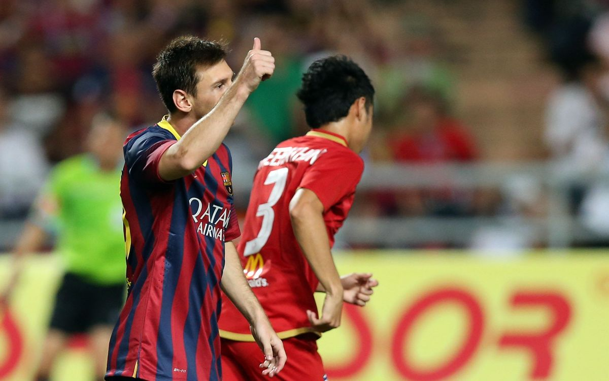 VIDEO: FC Barcelona's 1-7 vicotry in Bangkok