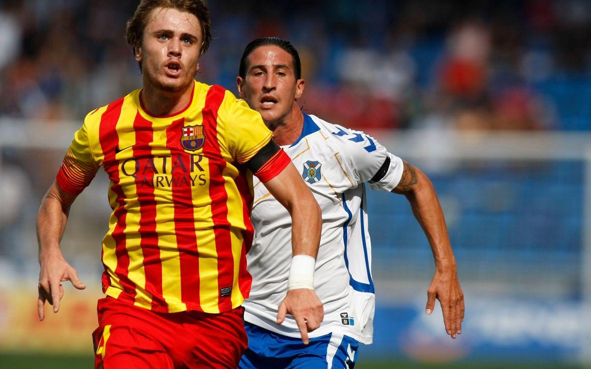 Tenerife – Barça B: Repartiment de punts (2-2)