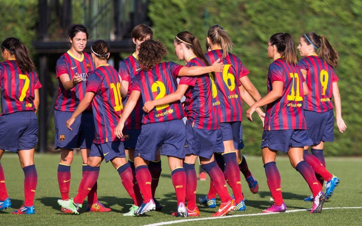 FCB Femení A - Moravian College: Golejada en el primer partit de pretemporada (12-0)