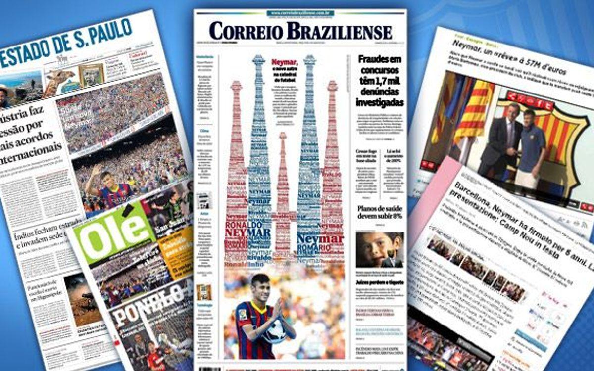 La presentació de Neymar amb el Barça arriba a tot el món