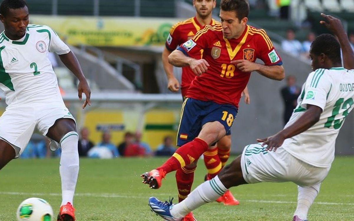 アルバのダブルゴールでスペイン勝利(0-3)