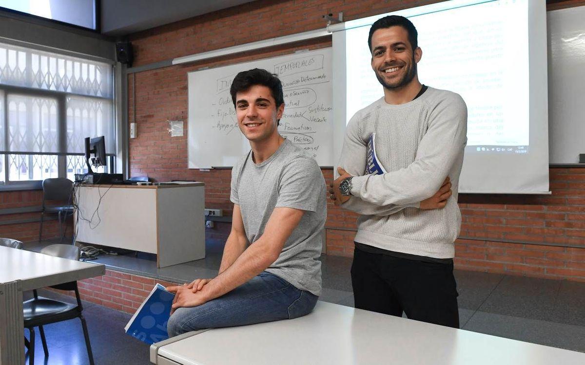 Ignacio Alabart y João Rodrigues, compañeros en el Palau y en la Universidad