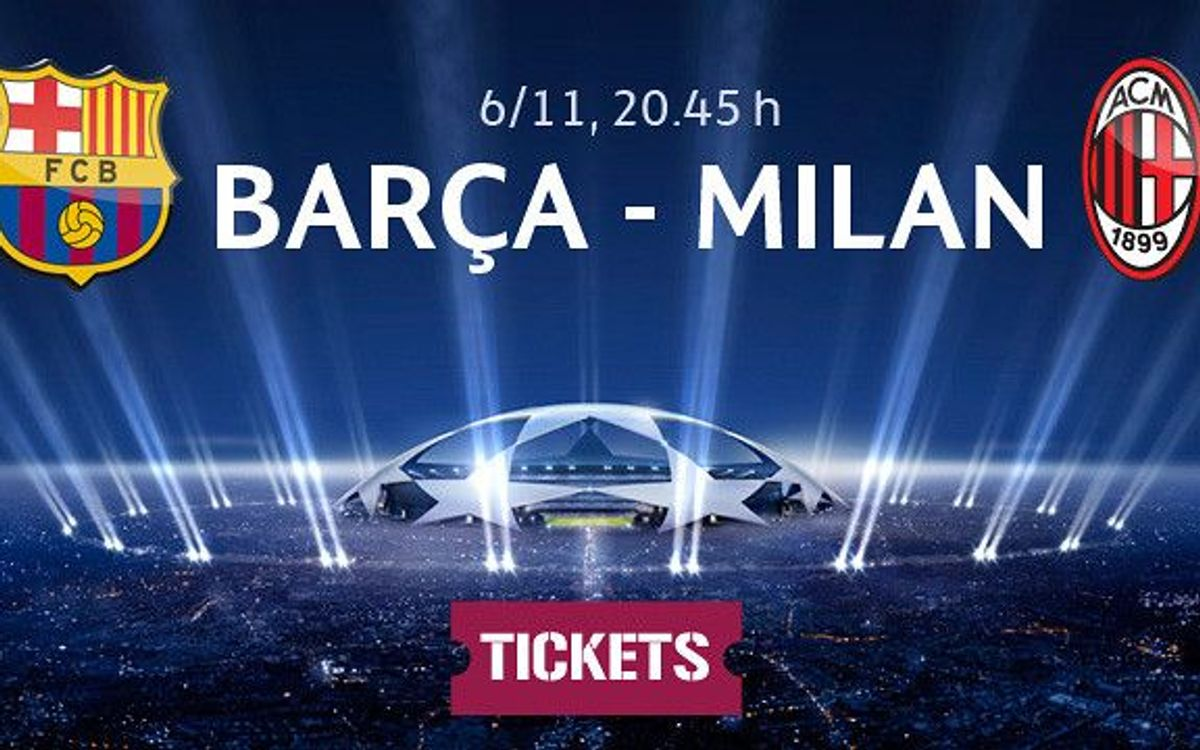 Don't miss the FC Barcelona v AC Milan showdown at the Camp Nou