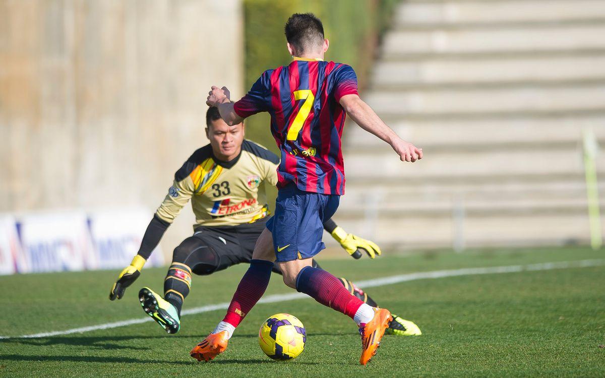 FC Barcelona B - Mitra Kukar FC: Victòria plàcida (4-0)