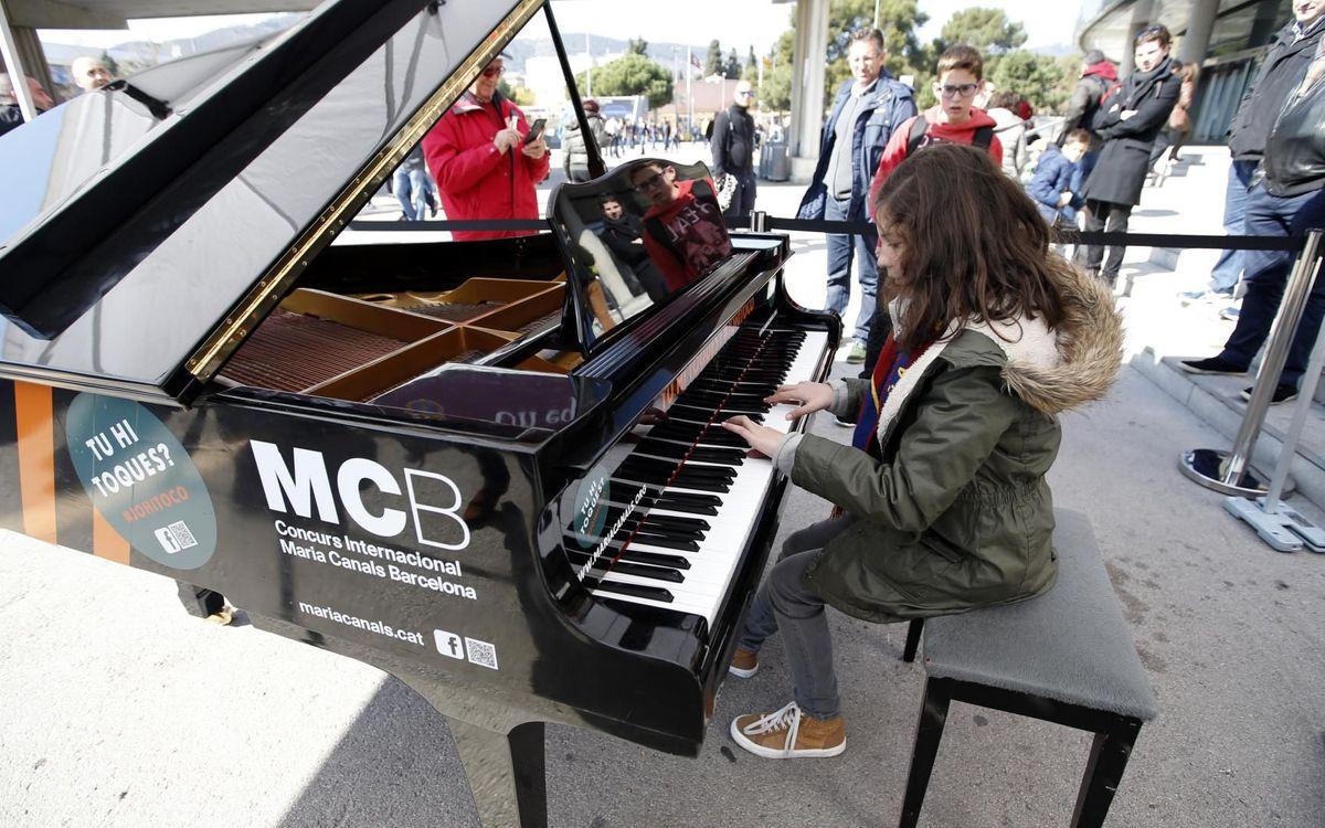 El piano vuelve a ser protagonista en el Camp Nou