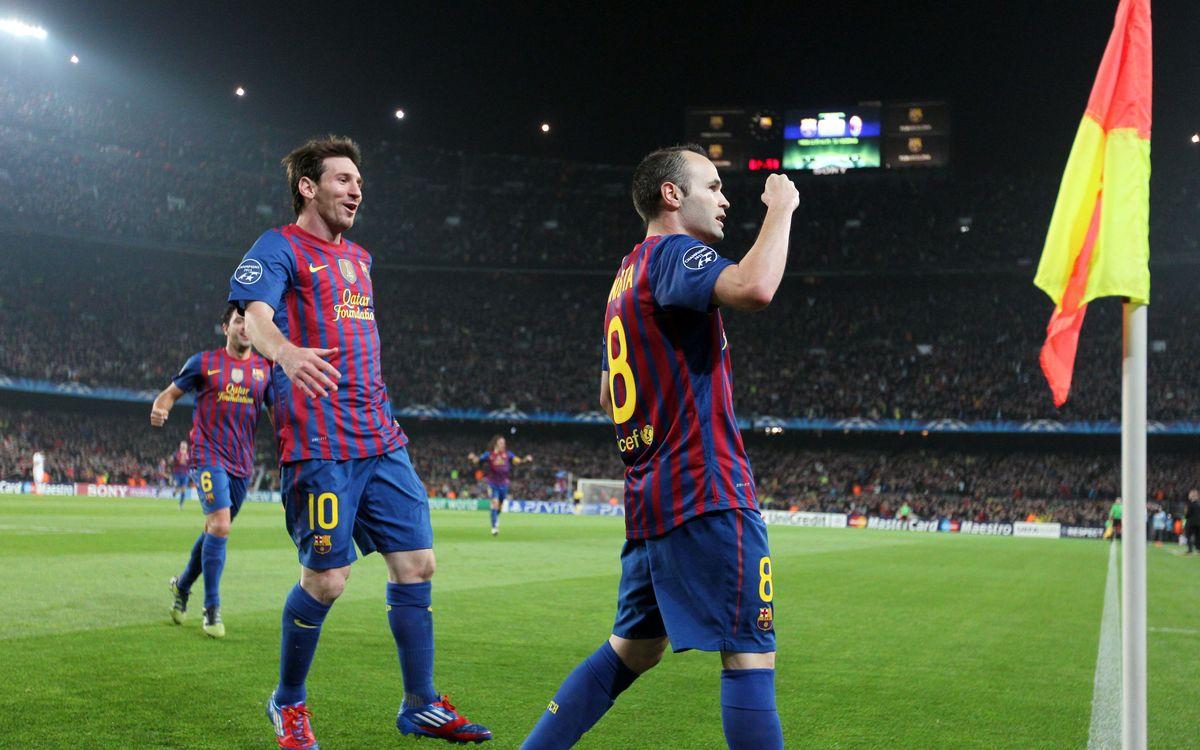 Quarts au Camp Nou, synonymes de buts
