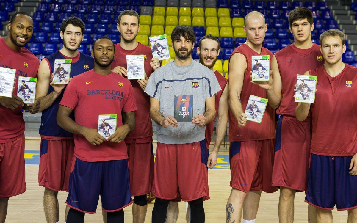 Les seccions professionals del Barça gaudeixen del FIFA 14
