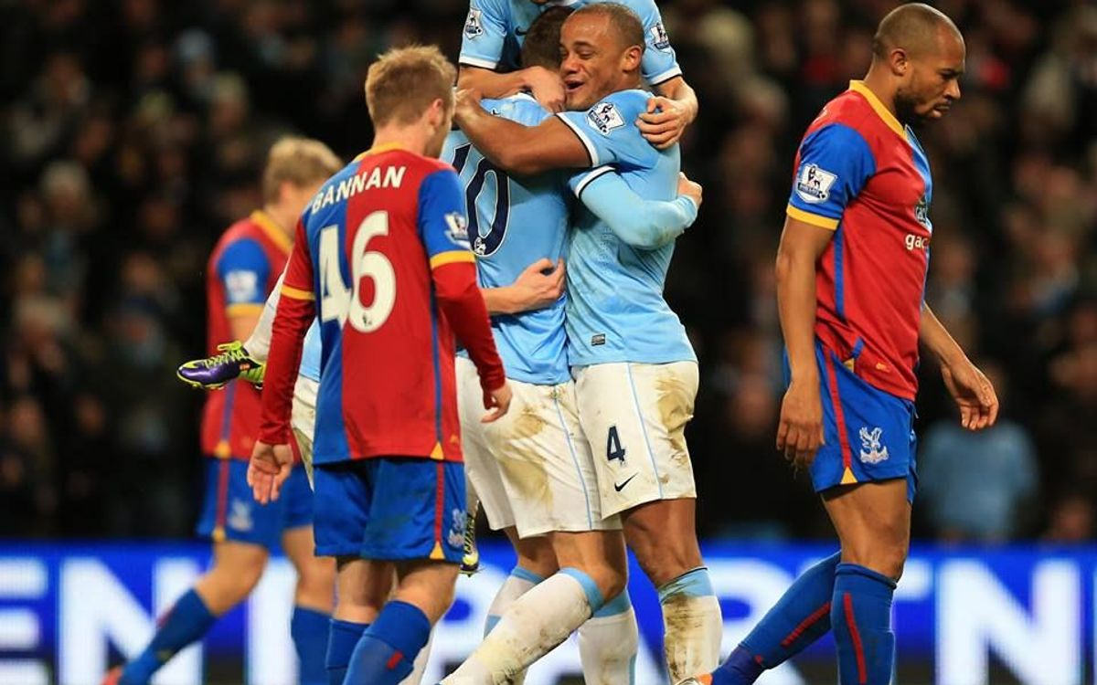 Manchester City defeat Crystal Palace, go top of the Premier League (1-0)