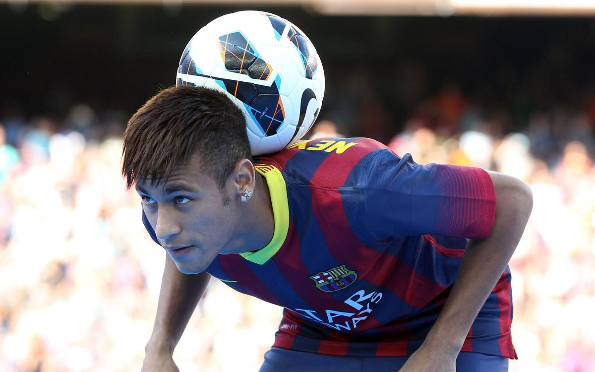 First day of Neymar in Barcelona