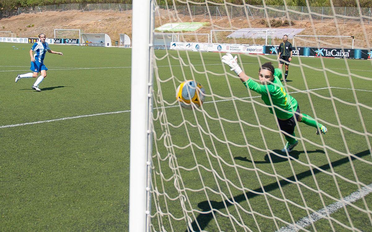 Femení A – RCD Espanyol: La Copa Catalunya s'escapa als penals (1-1; 3-4)