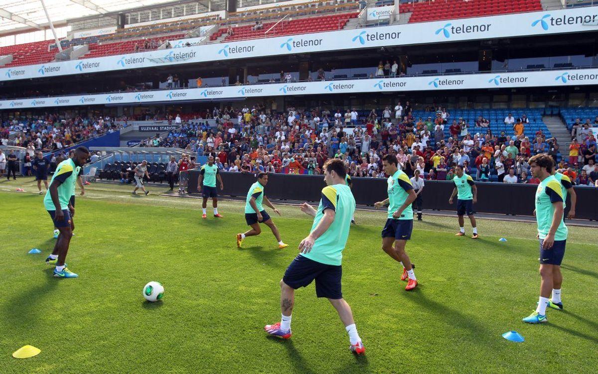 Le Barça s'entraine devant 1500 spectateurs
