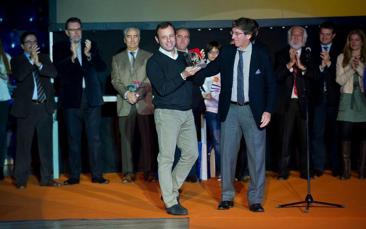 Rosell rep el premi d'Honor de Special Olympics Catalunya