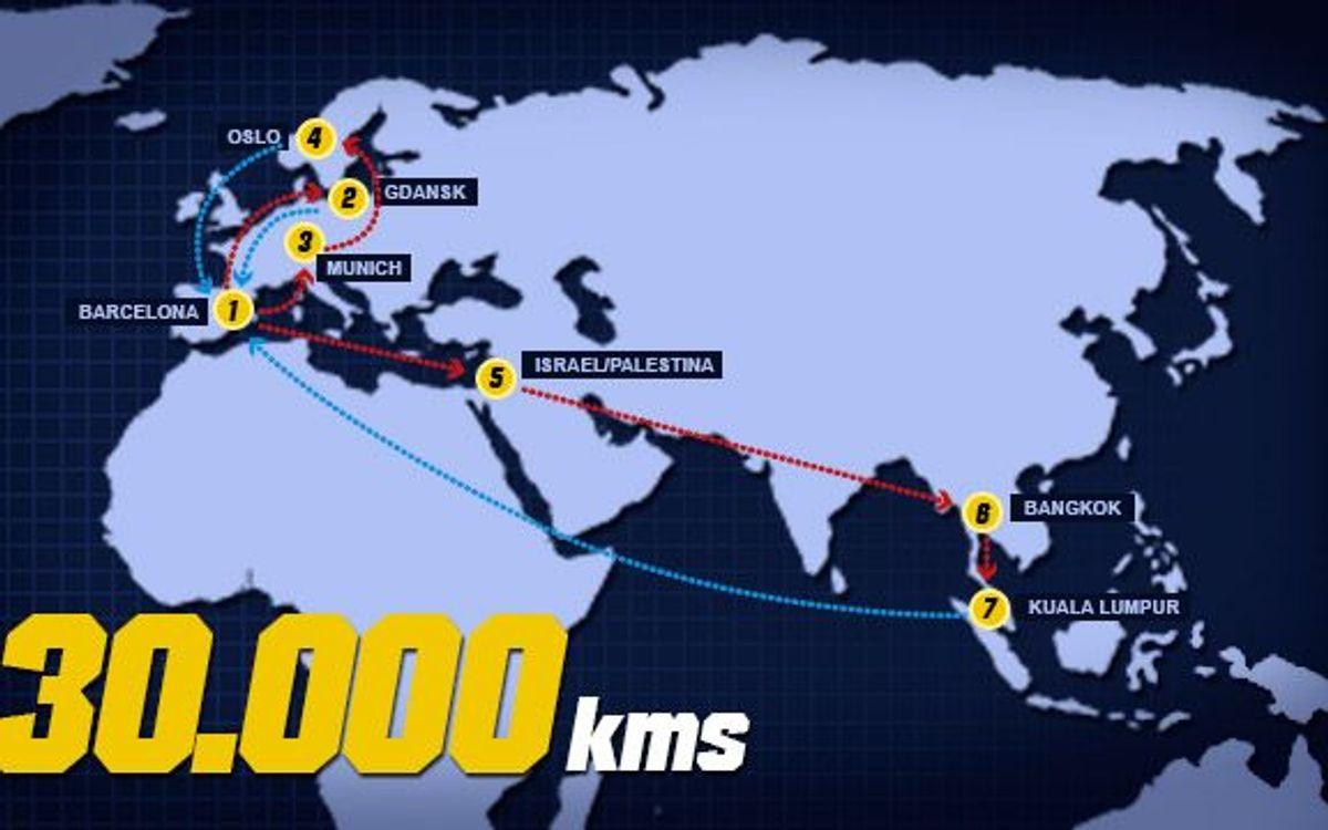 30.000 kilometres pre-season
