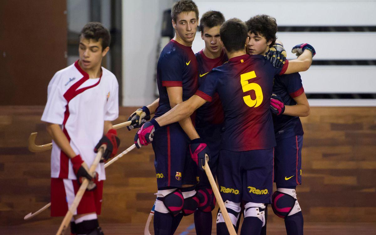 L'hoquei patins formatiu del FC Barcelona segueix gaudint d'una gran salut