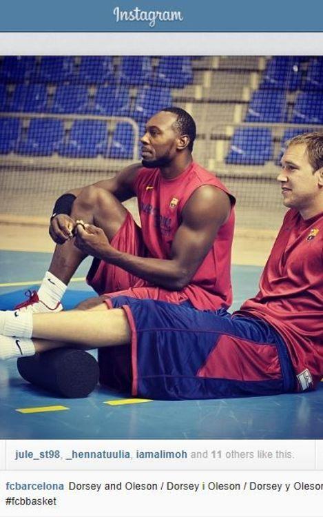 Les fotos dels jugadors del Barça de bàsquet també es podran veure a Instagram