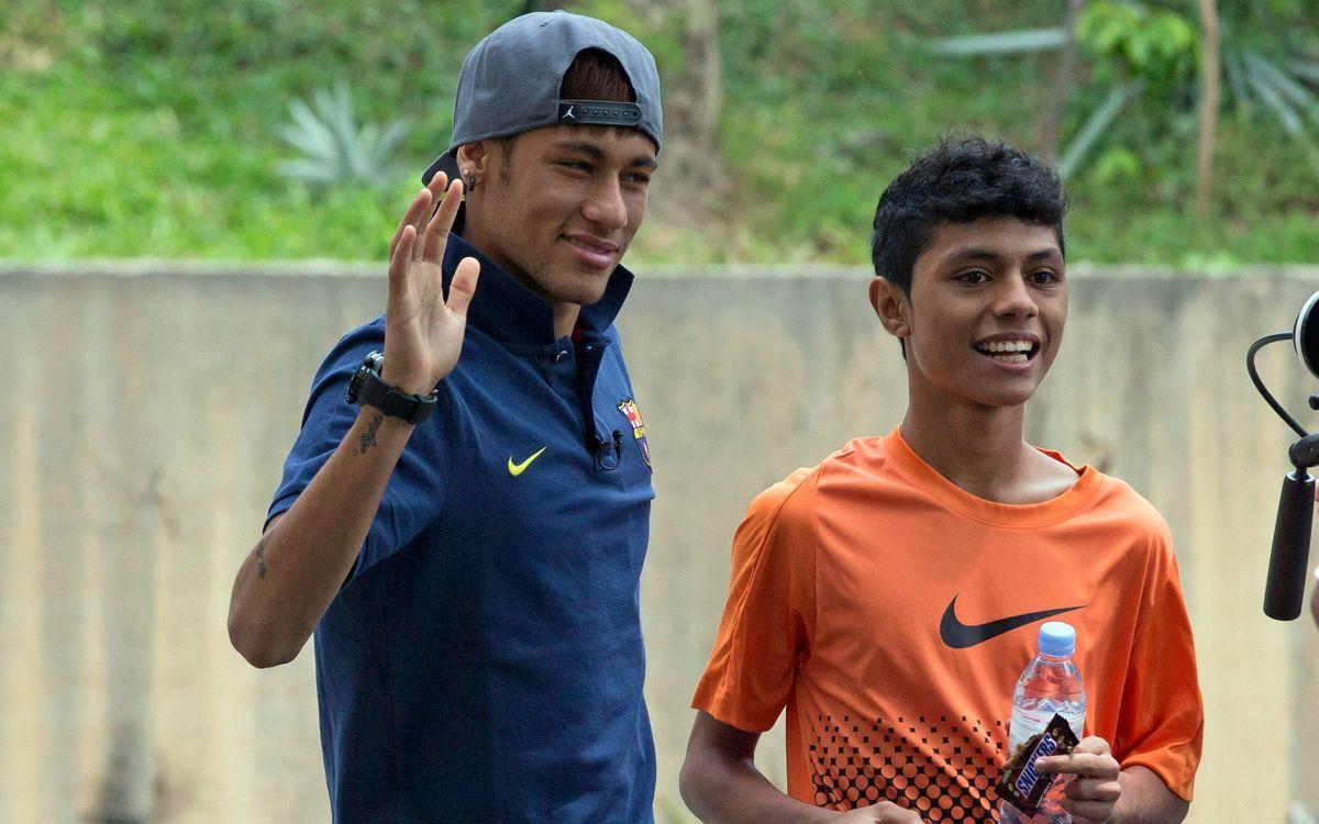 Neymar fa realitat el somni de Syafiq