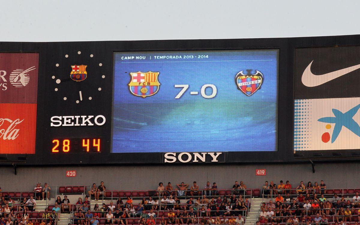 Record breaking debut against Levante