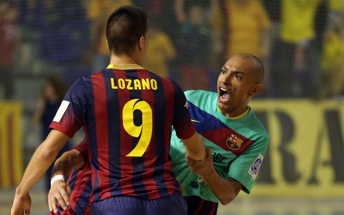 Barça Alusport – Santiago Futsal: Final d'infart per sumar un punt (2-2)