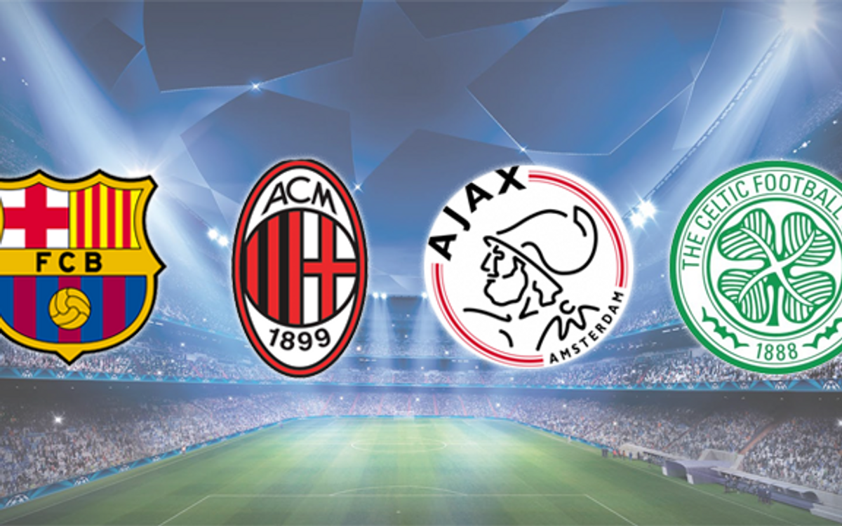Milan, Ajax and Celtic, FC Barcelona's rivals in the Group Stage