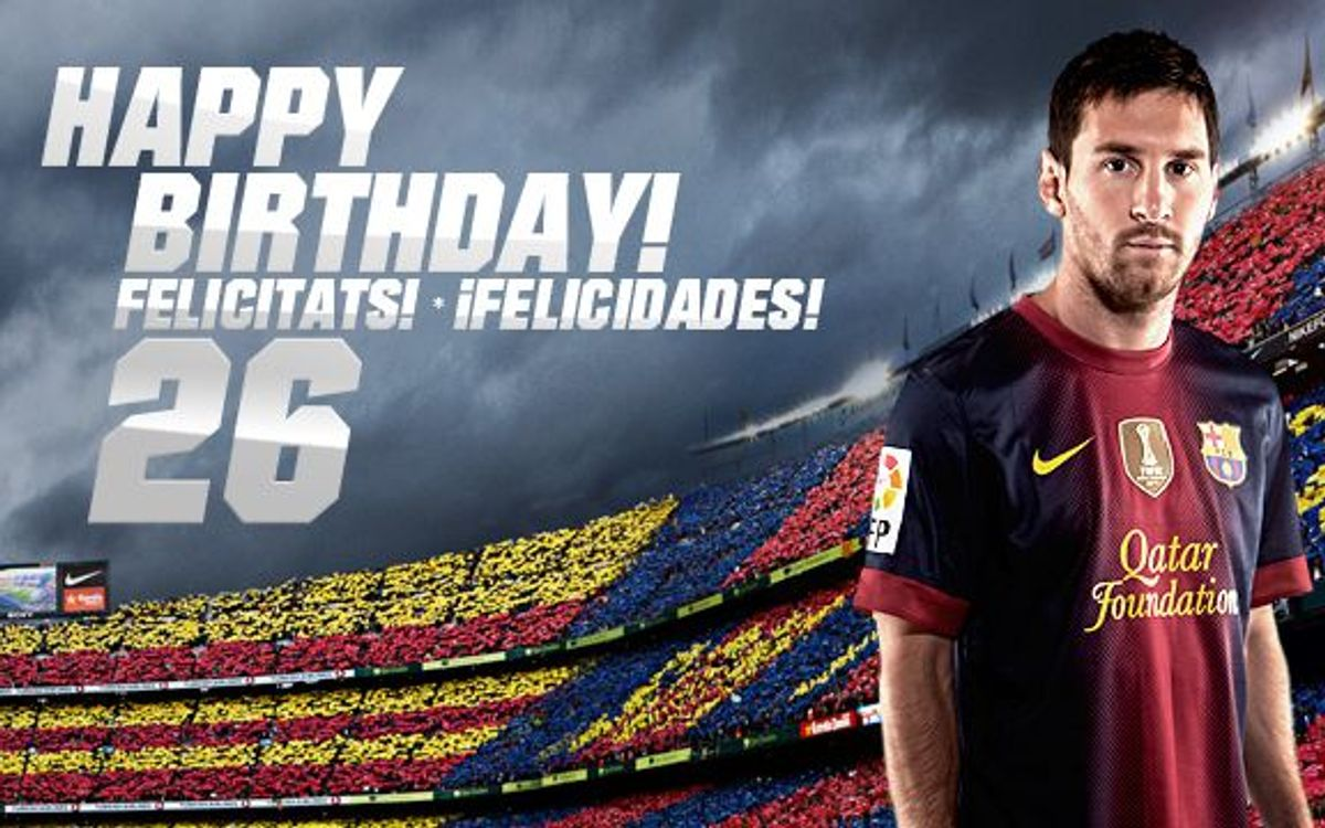 Happy birthday, Messi!