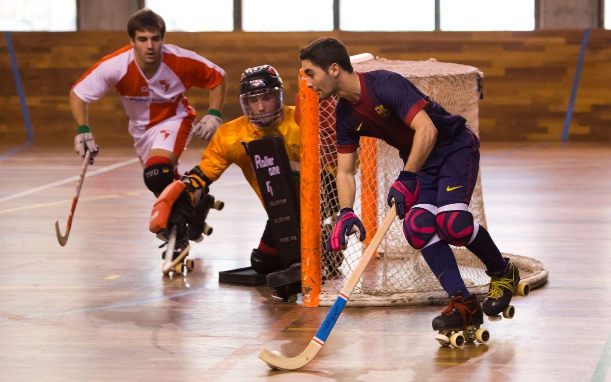 Així es treballa a l'hoquei patins formatiu del Barça