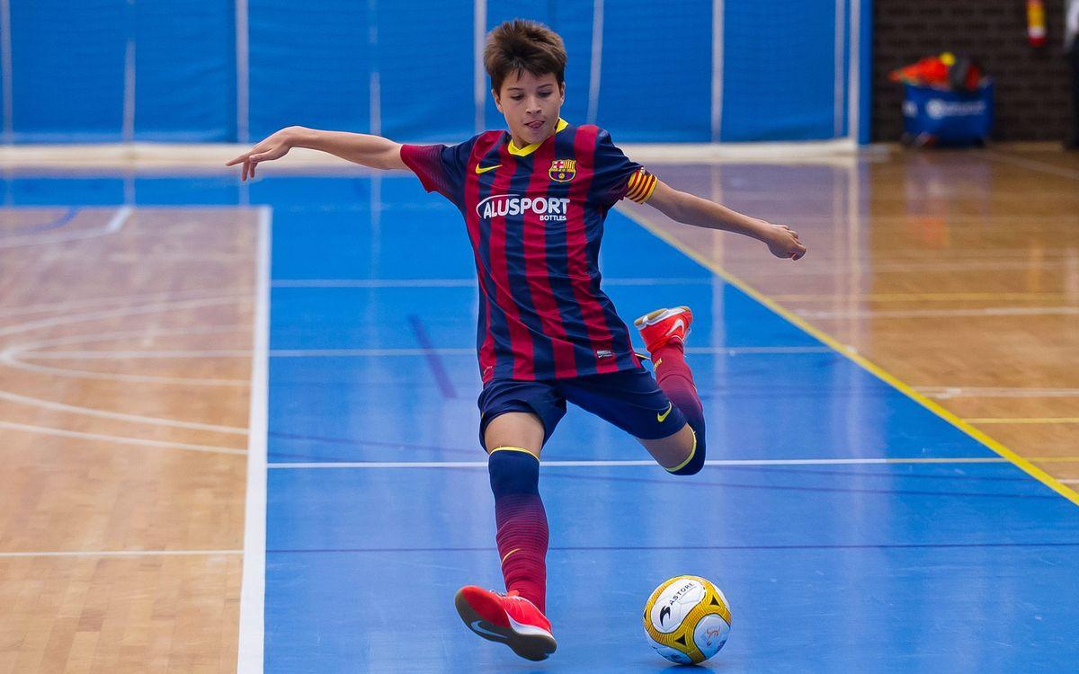 Segueixen els bons resultats al futbol sala del FC Barcelona Alusport