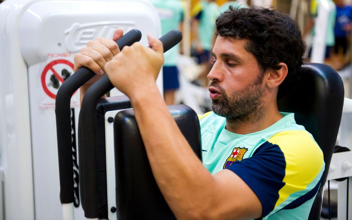 La segona setmana de treball del Barça d'handbol