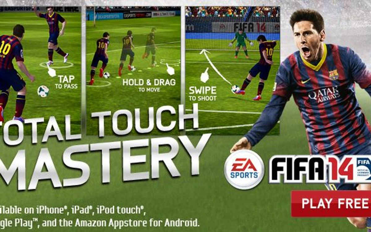 Play FIFA 14 as FC Barcelona on mobile telephones