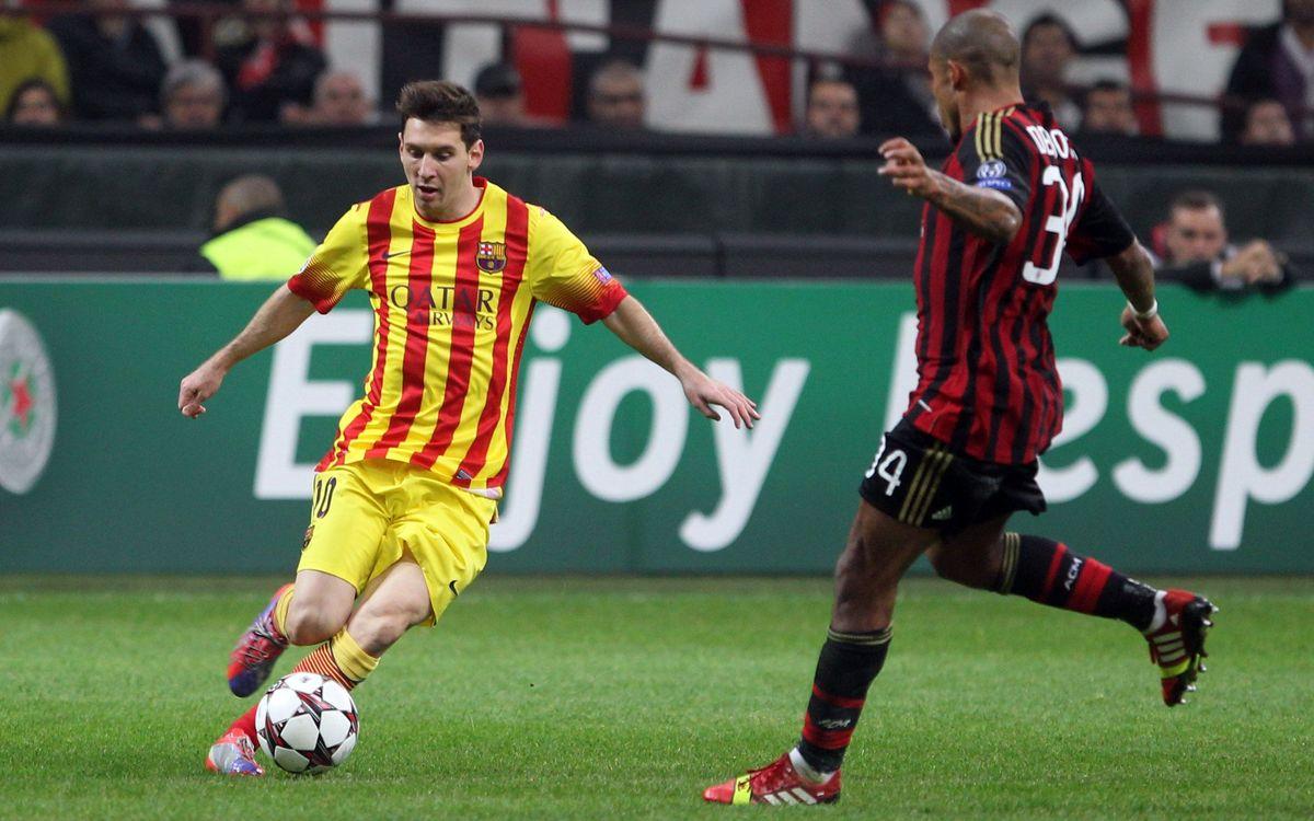 AC Milan, Messi's favourite European victim