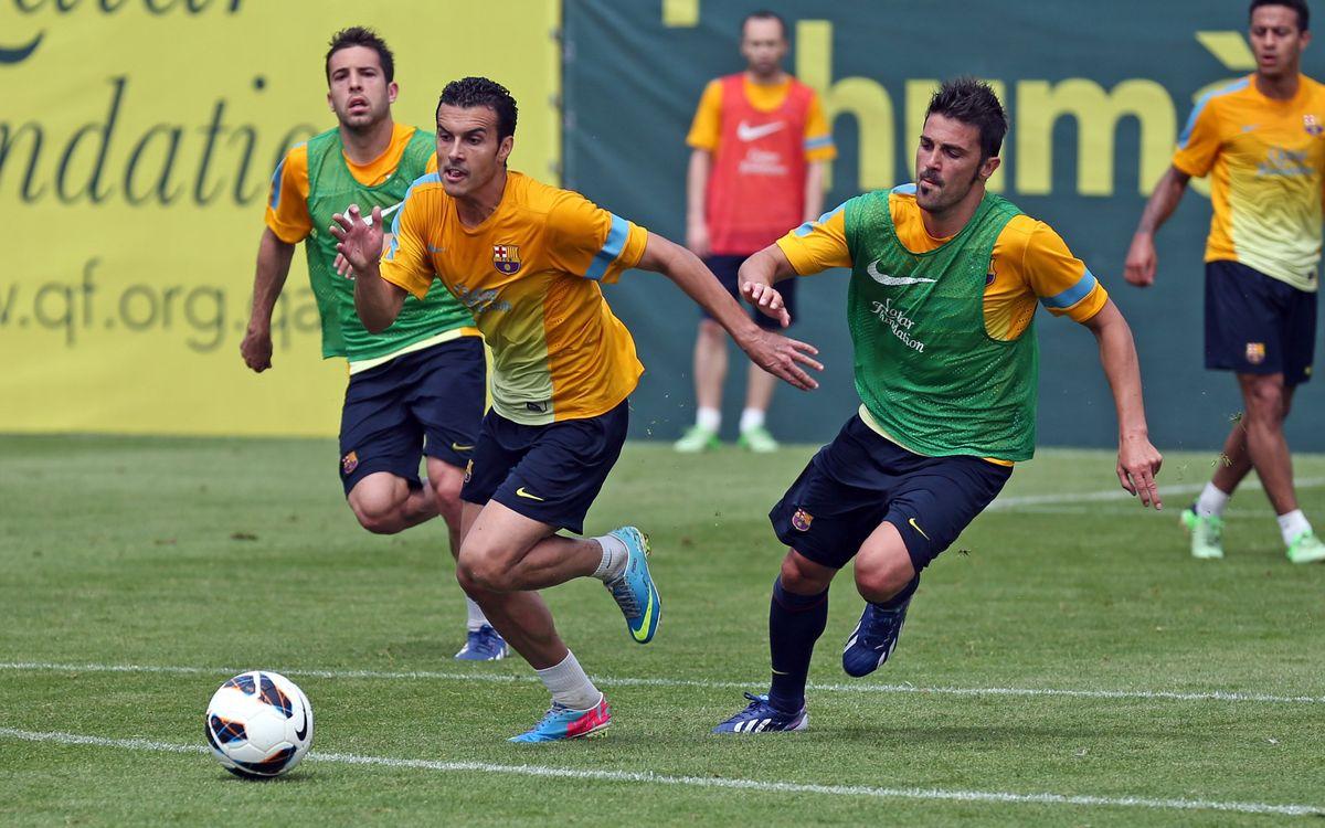 Pedro reçoit le feu vert après l'entrainement