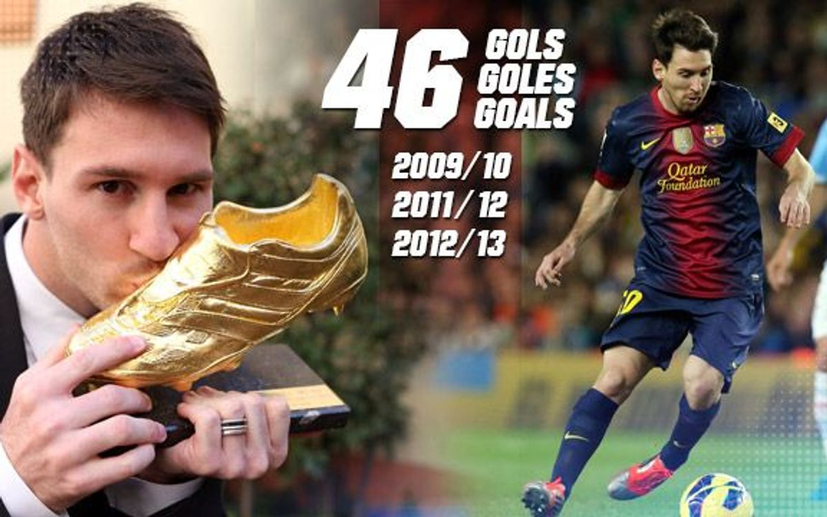 Messi, three-time winner of the Pichichi Trophy and Golden Shoe award