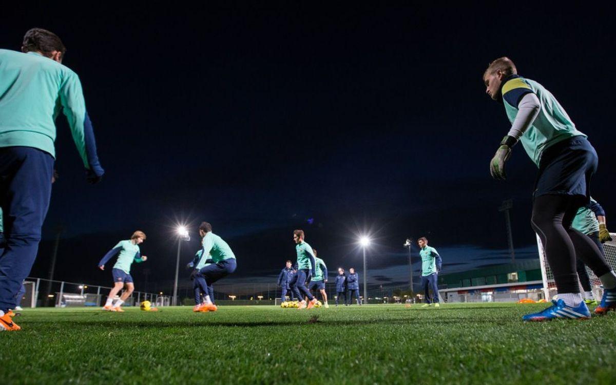 Barça B return to training