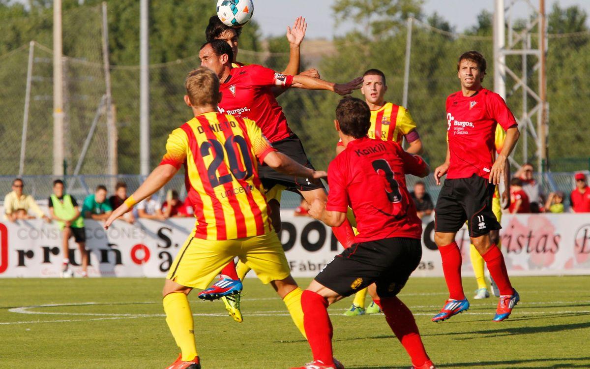 Mirandés – FC Barcelona B: Sense recompensa en un bon partit (2-1)