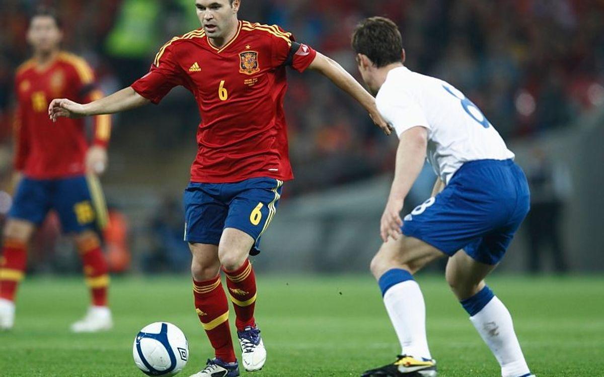 Sept joueurs convoqués avec la sélection espagnole