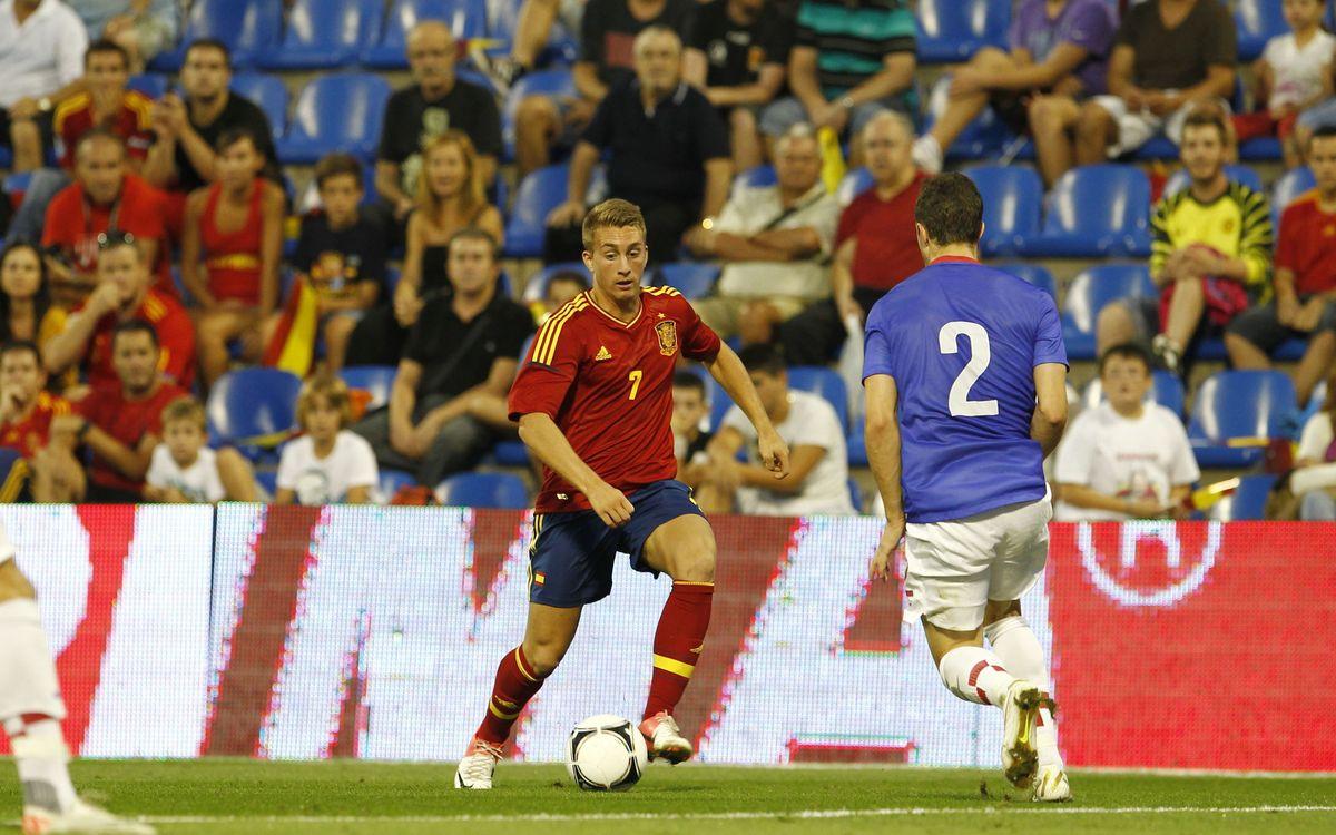 Quatre jugadors del Barça B van ser protagonistes amb la selecció espanyola sub-21
