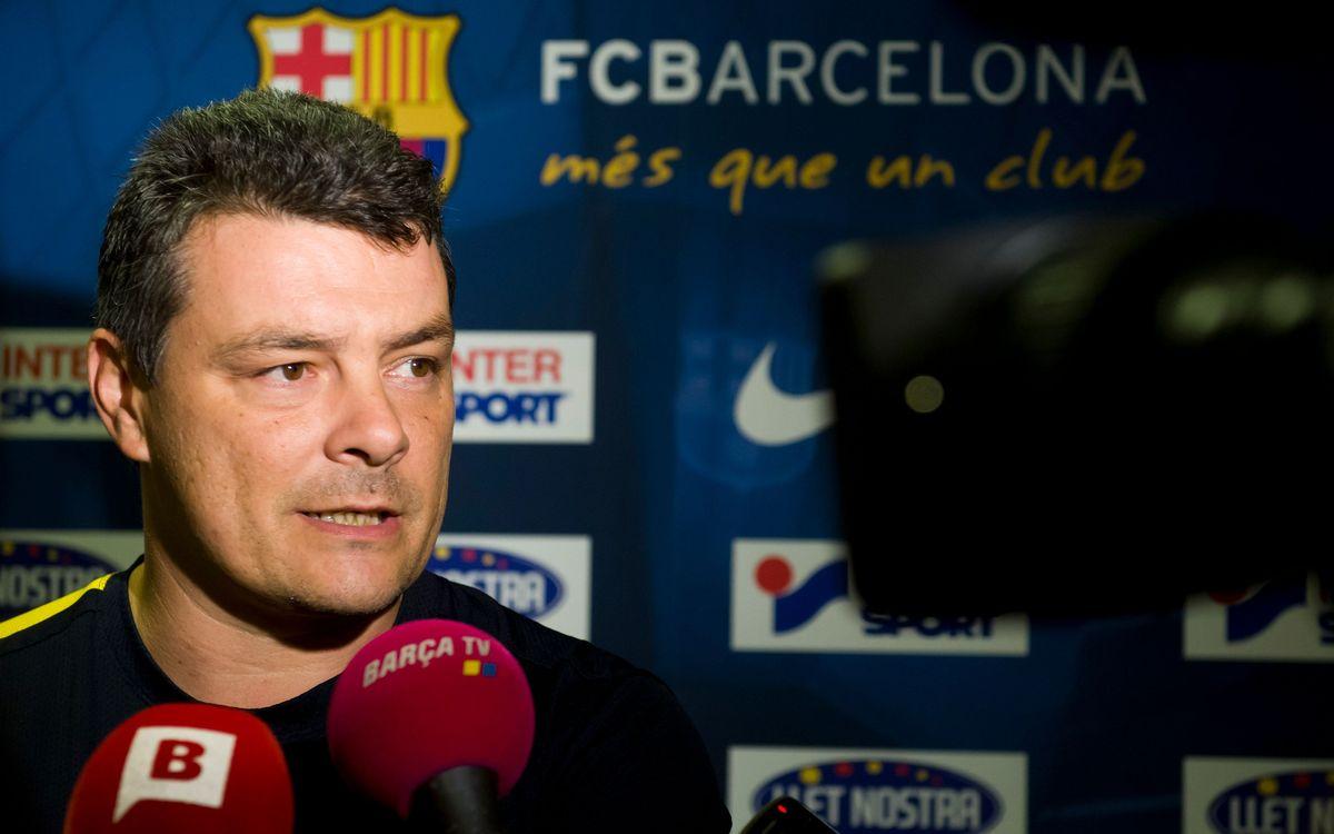 """Xavi Pascual: """"El partit és una final a camp contrari"""""""