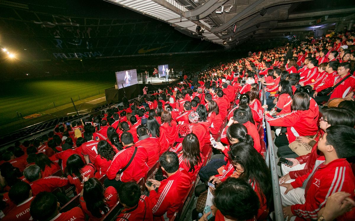 Prudential brings the red tide to the Camp Nou