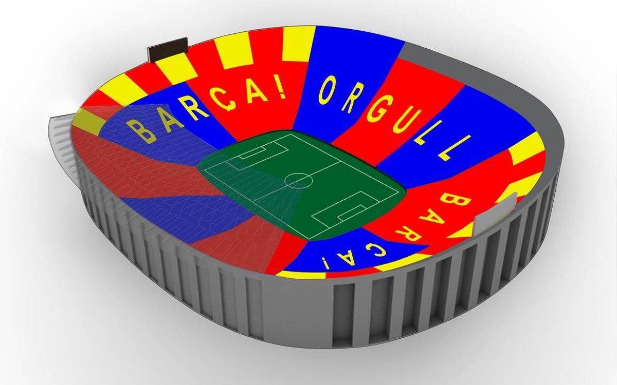 'Barça, Pride, Barça', the mosaic against Bayern